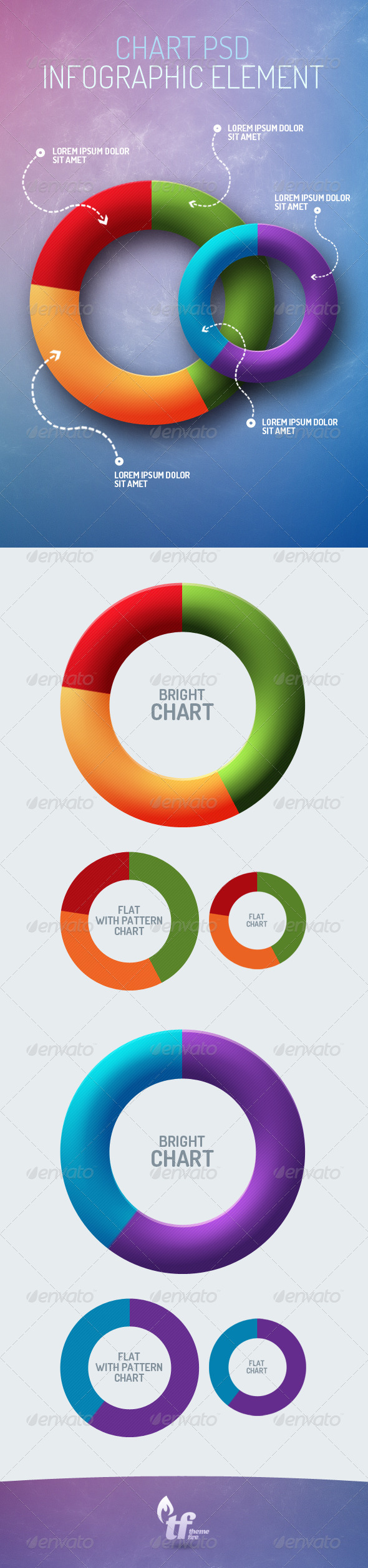 Pie Chart Infographic Element PSD - Infographics