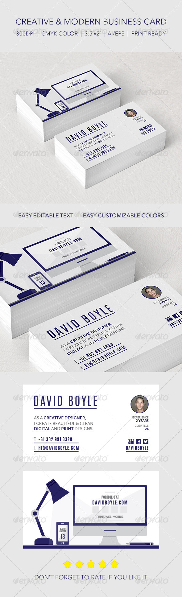 Modern & Minimally Illustrated Designer Card - Creative Business Cards