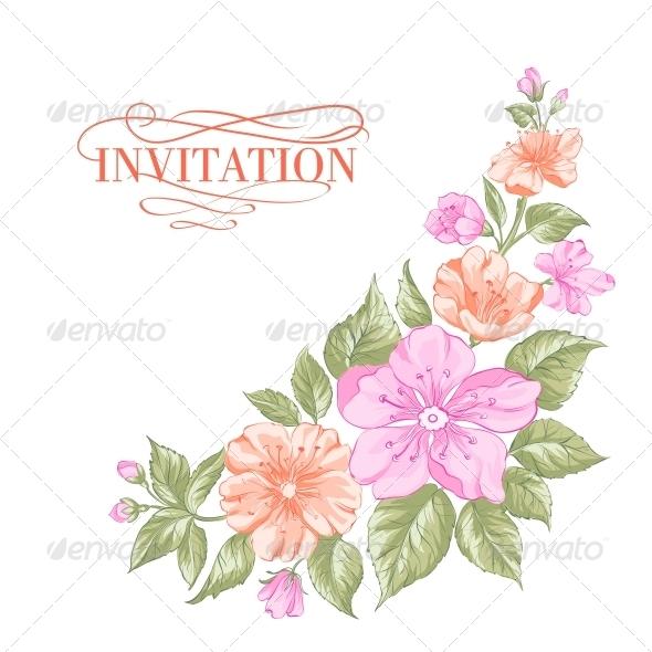 Sakura Holiday Invitation Card - Weddings Seasons/Holidays