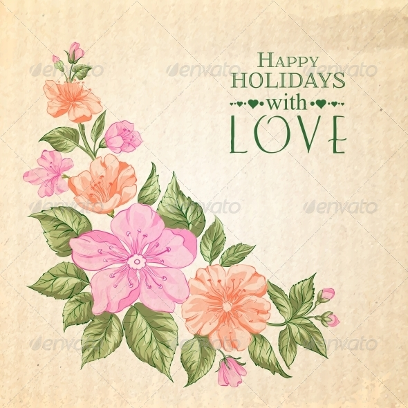 Sakura Holiday Invitation Card - Weddings Seasons/Holidays