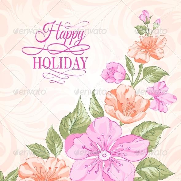 Sakura Holiday Invitation Card. - Weddings Seasons/Holidays