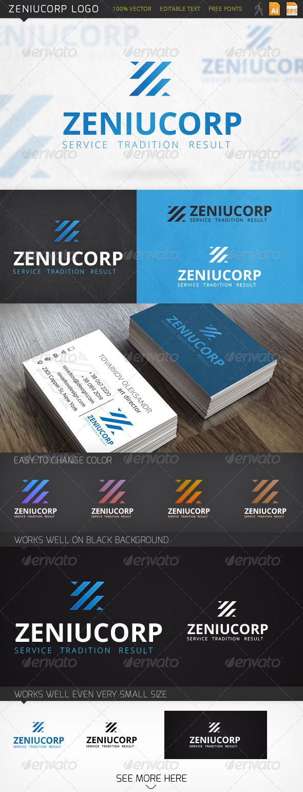 Zeniucorp Letter Z (X) Logo Template - Abstract Logo Templates