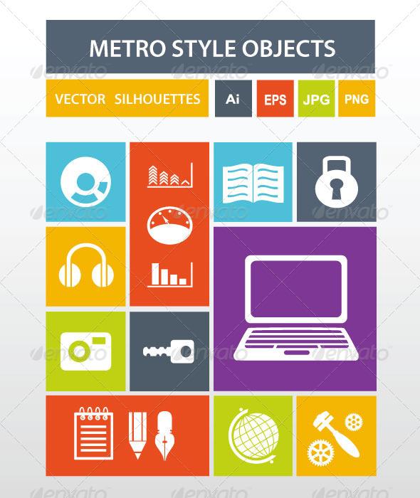 Metro Style Icons - Web Technology