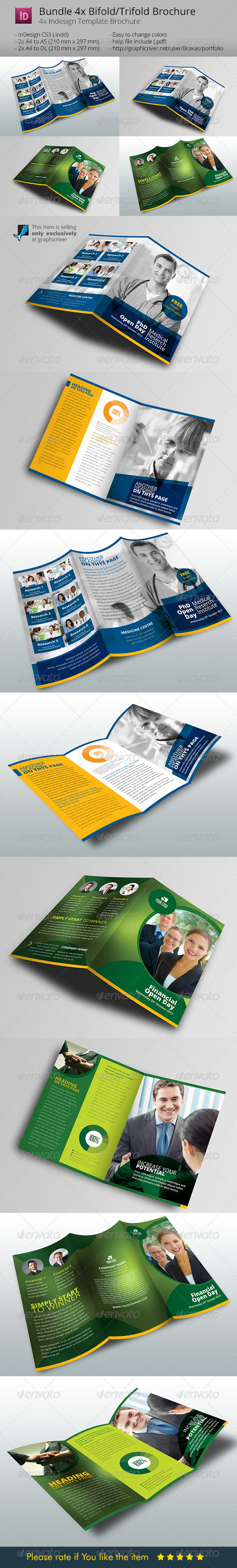Bundle 4x Brochure Design - Informational Brochures