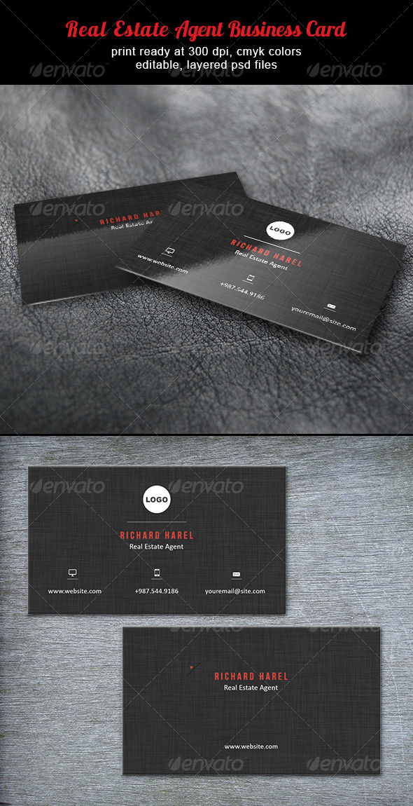 Real Estate Agent Business Card by designities | GraphicRiver