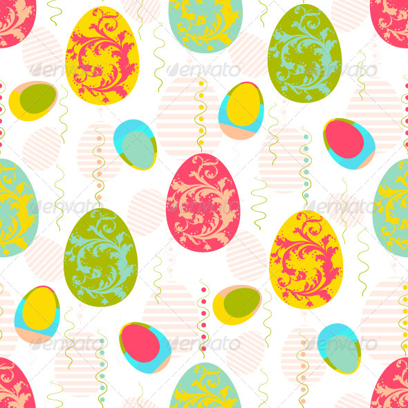 Colorful Easter Eggs  - Seasons/Holidays Conceptual