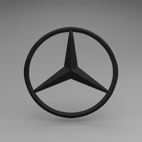 Mercedes logo by kushal chaudhari 3docean for Mercedes benz logo 3d