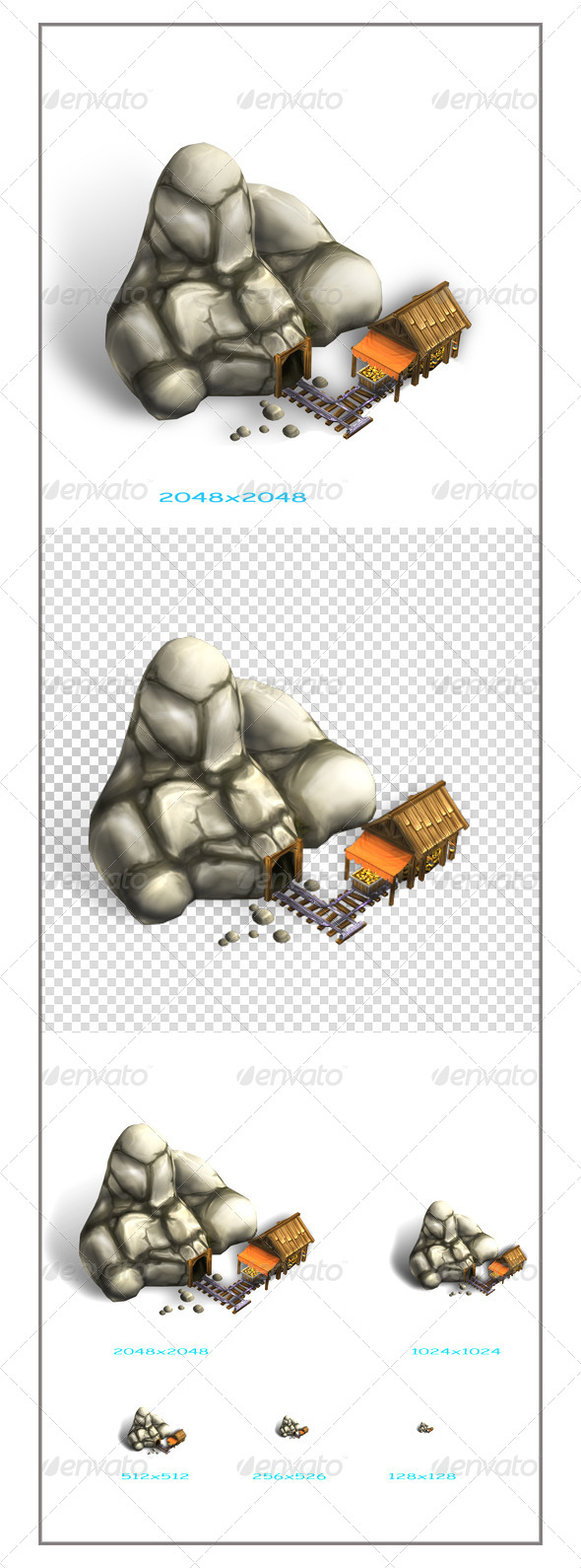 Gold Mine - 3D Renders Graphics
