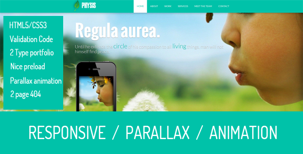 Physis –  One Page Responsive Template