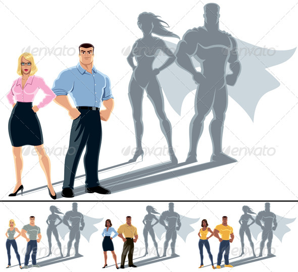 Couple Superhero Concept - People Characters