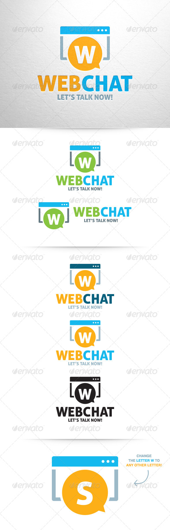 Web Chat Logo - Letters Logo Templates