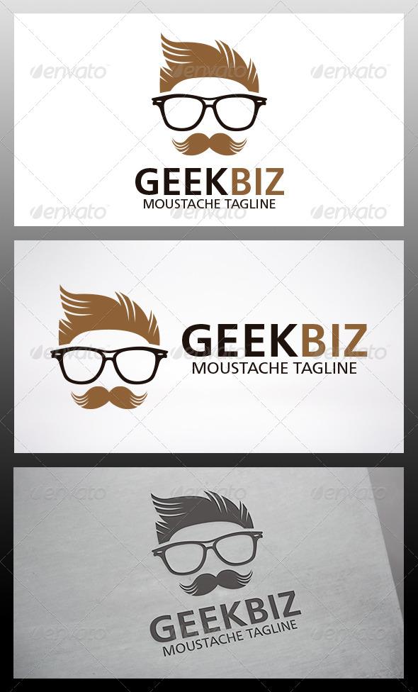 Geek Moustache Logo - Humans Logo Templates