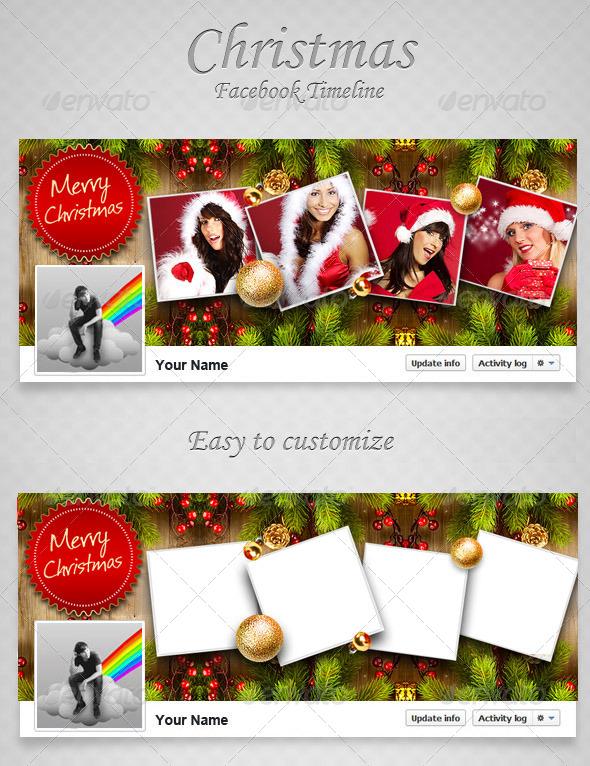 Christmas FB Timeline V6 - Facebook Timeline Covers Social Media