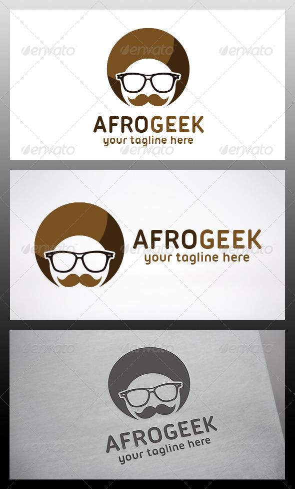 Afro Geek Logo - Humans Logo Templates