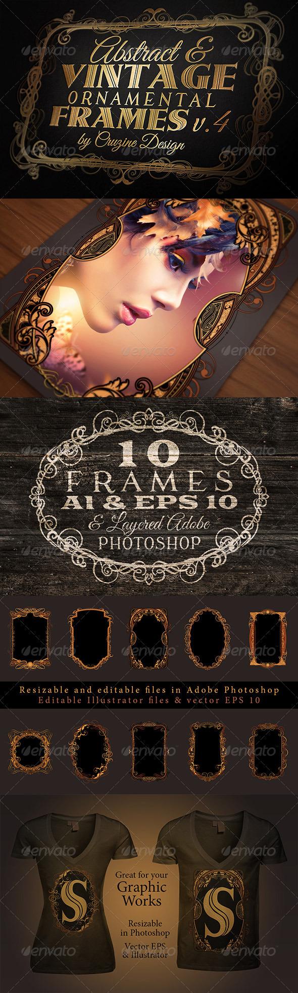 10 Frames Vol.4 - Vintage Ornament - Borders Decorative