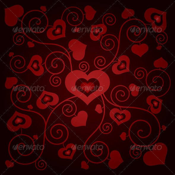 Valentine's Day Background with Hearts  - Backgrounds Decorative