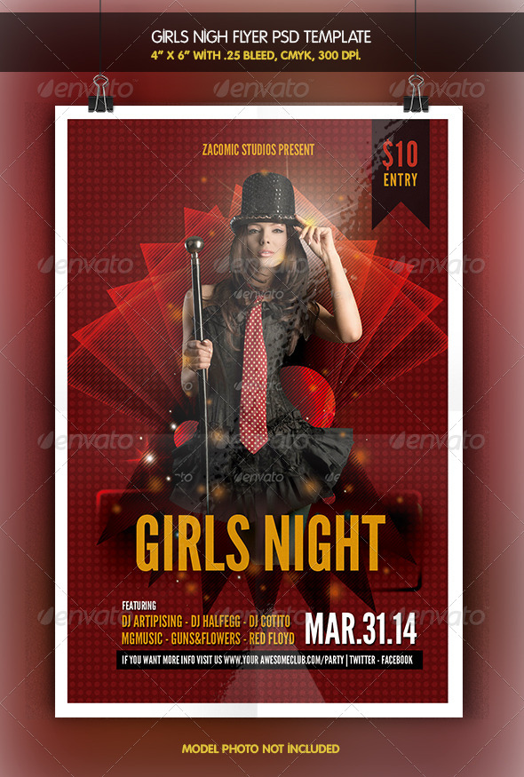 Girls Night | Party Flyer - Clubs & Parties Events
