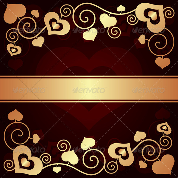 Valentine's Day Background with Hearts  - Valentines Seasons/Holidays