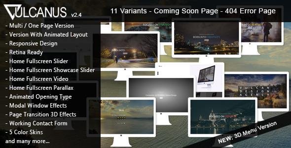 Vulcanus - Responsive HTML5 Template - Creative Site Templates