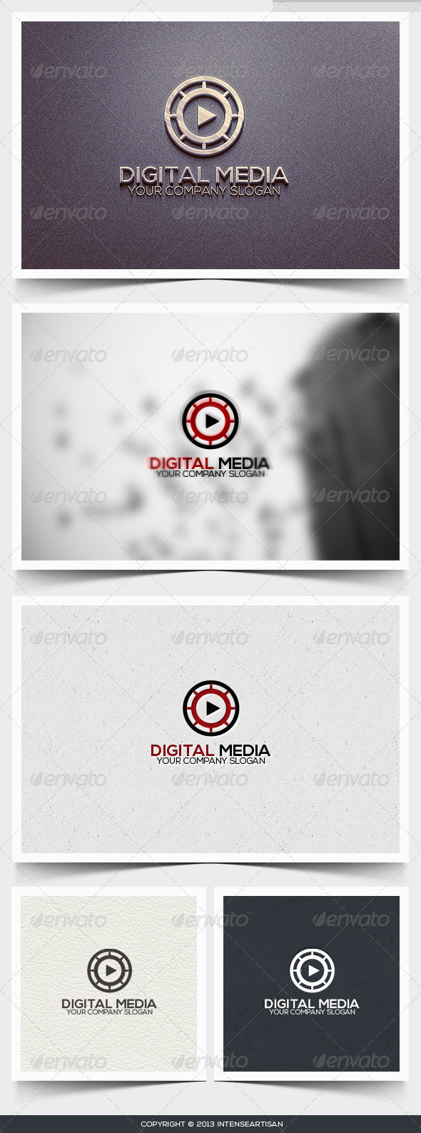 Digital Media Logo Template - Objects Logo Templates