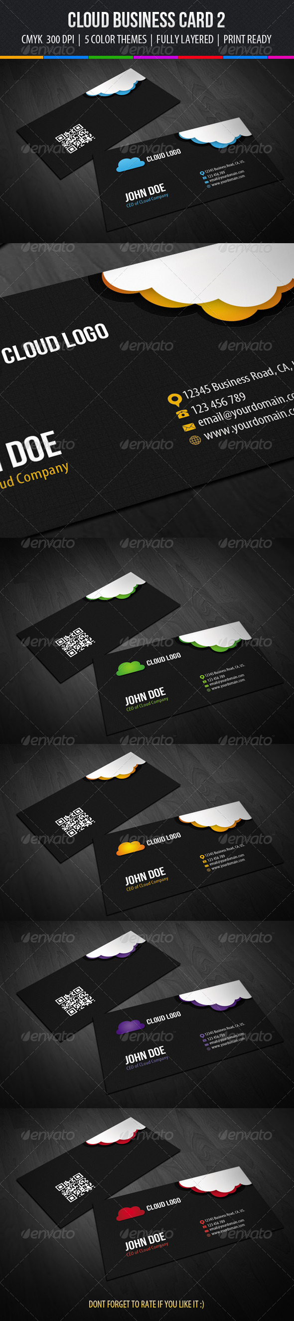 Cloud Business Card Design 2 - Industry Specific Business Cards