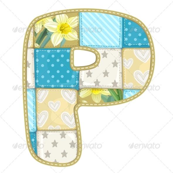Quilted P - Decorative Symbols Decorative