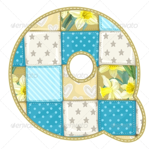 Quilted Q - Decorative Symbols Decorative
