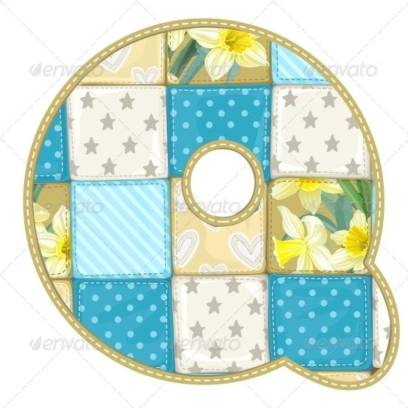Quilted Q - Decorative Symbols Decorative