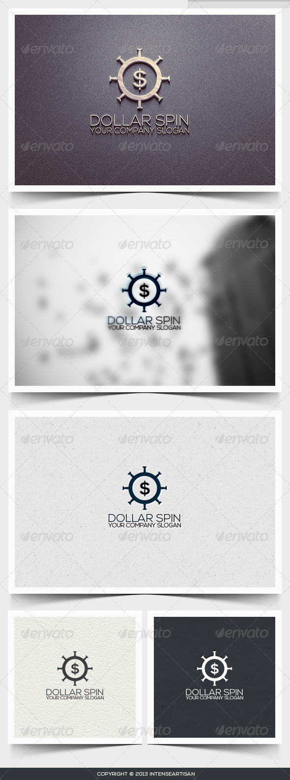 Dollar Spin Logo Template - Numbers Logo Templates