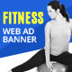 Multipurpose Fitness Web Ad Banners - GraphicRiver Item for Sale