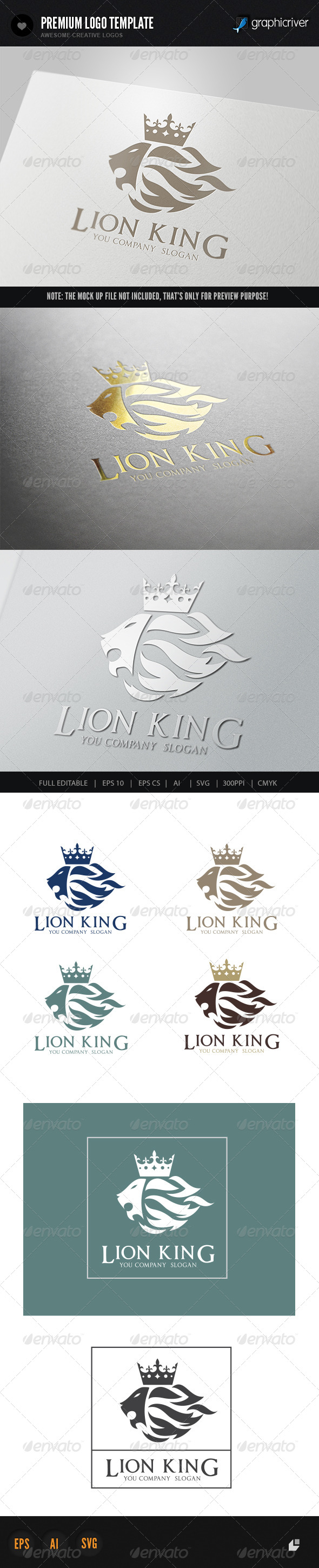 Lion King Logo 1 - Crests Logo Templates