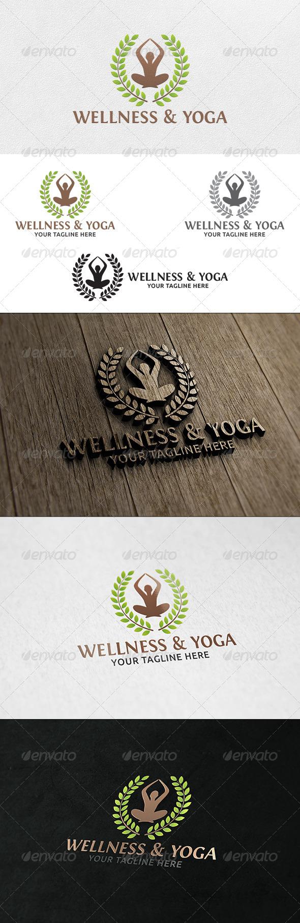 Wellness & Yoga - Logo Template - Humans Logo Templates