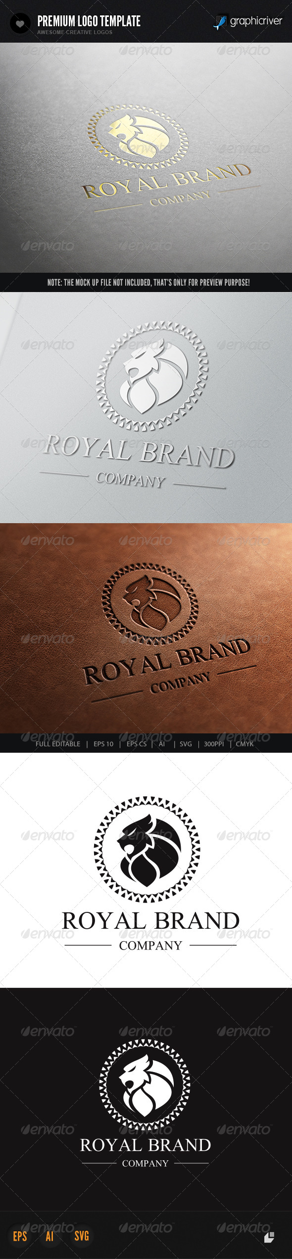 Lion Royal Brand 3 - Crests Logo Templates