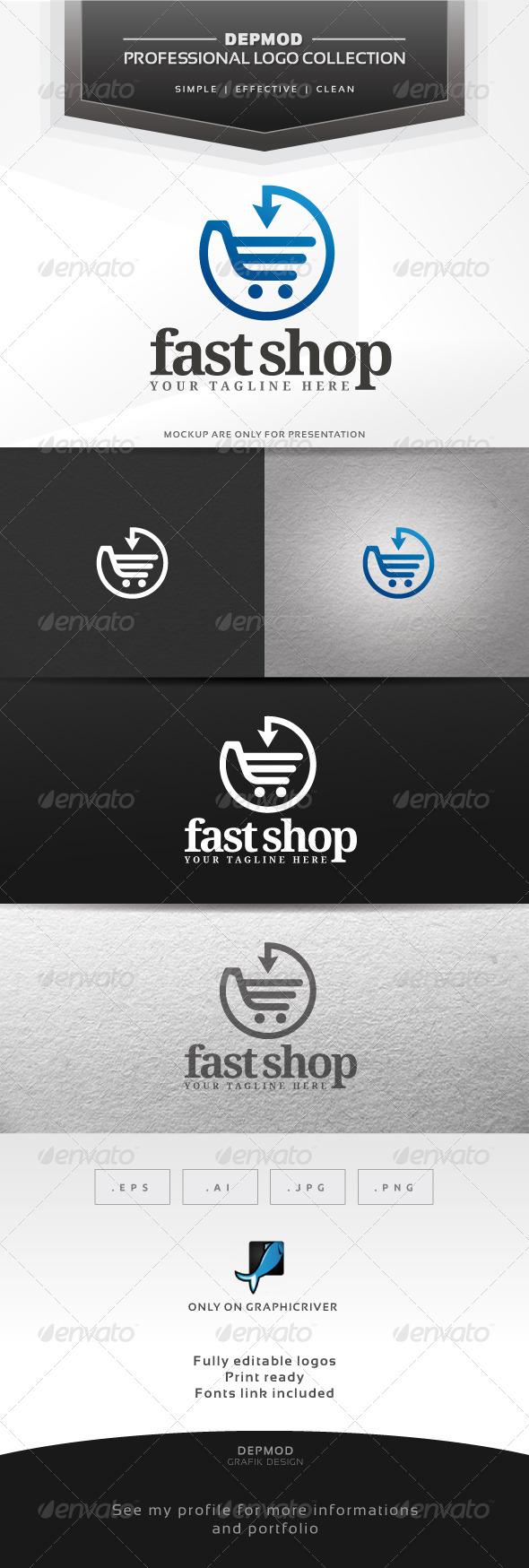 Fast Shop Loog - Symbols Logo Templates