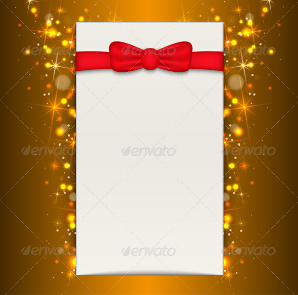 Christmas Background with Blank Sheet of Paper  - Christmas Seasons/Holidays