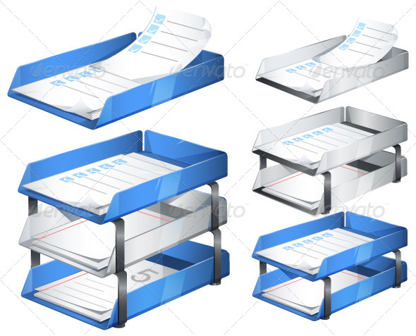 Paper Tray Illustration - Concepts Business