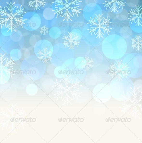 Blue Snowy Background - Christmas Seasons/Holidays