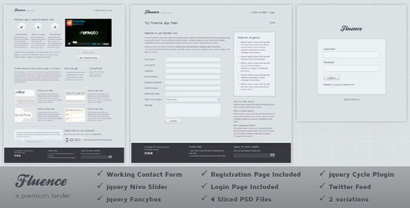 Free Download Fluence Landing Page Nulled Latest Version