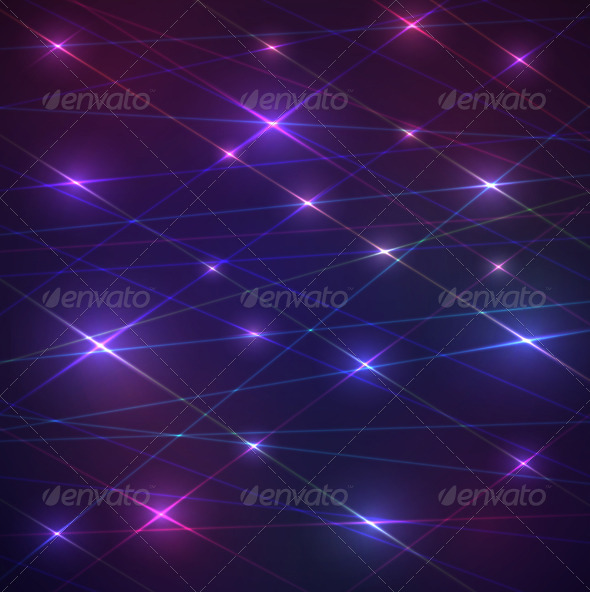 Laser Glowing Background - Communications Technology