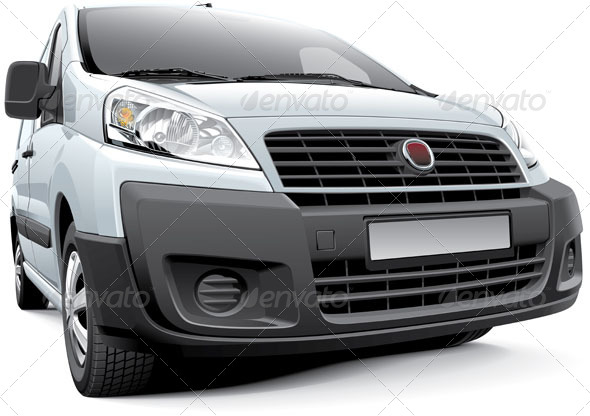 Italian Light Commercial Vehicle - Vectors