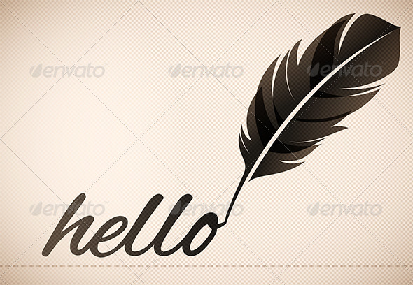 Quill Pen - Backgrounds Decorative