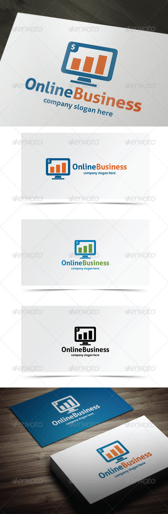 Online Business - Symbols Logo Templates