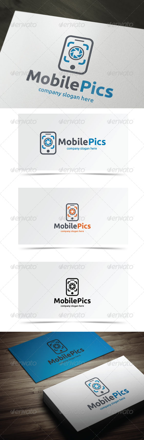 Mobile Pics - Symbols Logo Templates