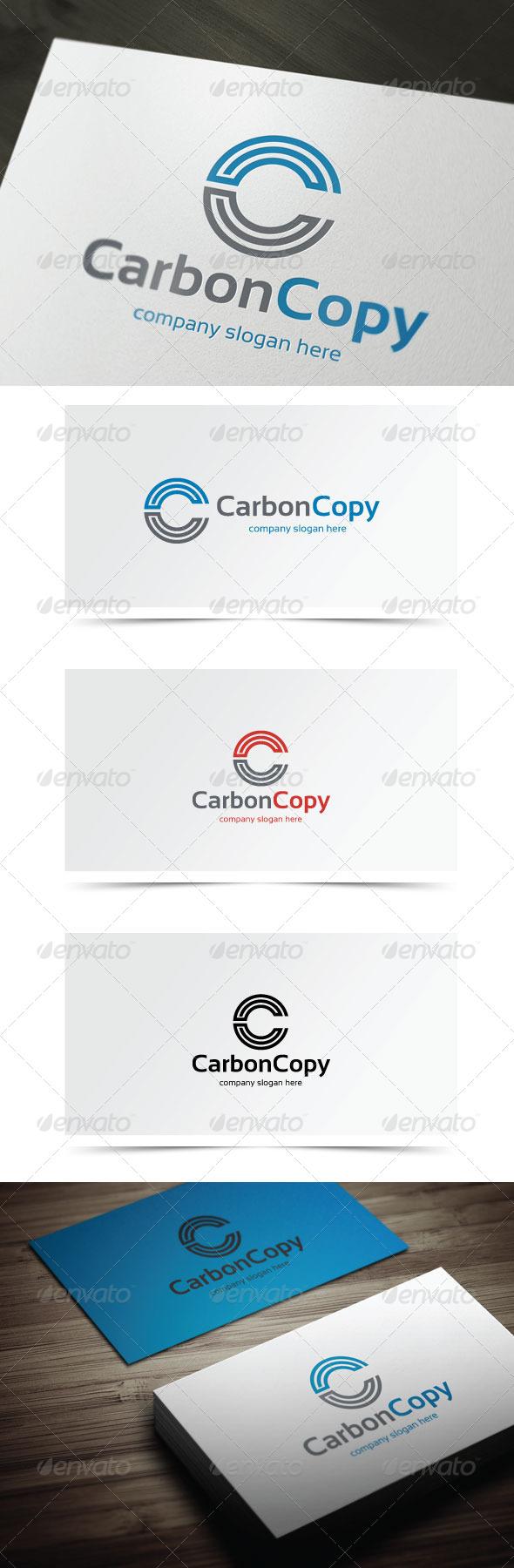 Carbon Copy - Letters Logo Templates