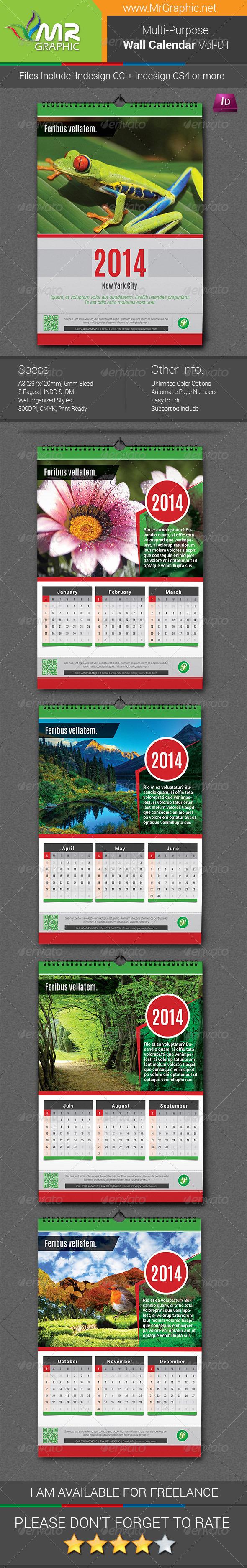 Wall Calendar Vol-1 - Calendars Stationery