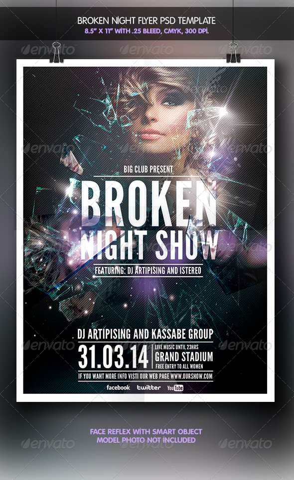 Broken Night | Party Flyer - Clubs & Parties Events