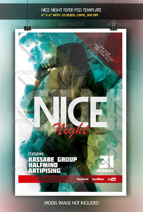 Nice Night Party Flyer - Clubs & Parties Events