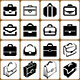 16 Briefcase Icons Set - GraphicRiver Item for Sale