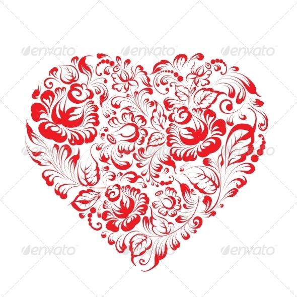 Heart of Flowers - Valentines Seasons/Holidays