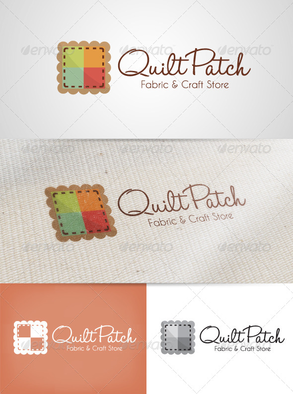 Quilt Patch Logo - Objects Logo Templates